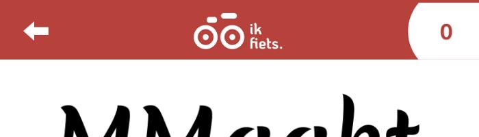 Korting via Ik fiets app