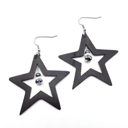 Zilveren ster oorbellen